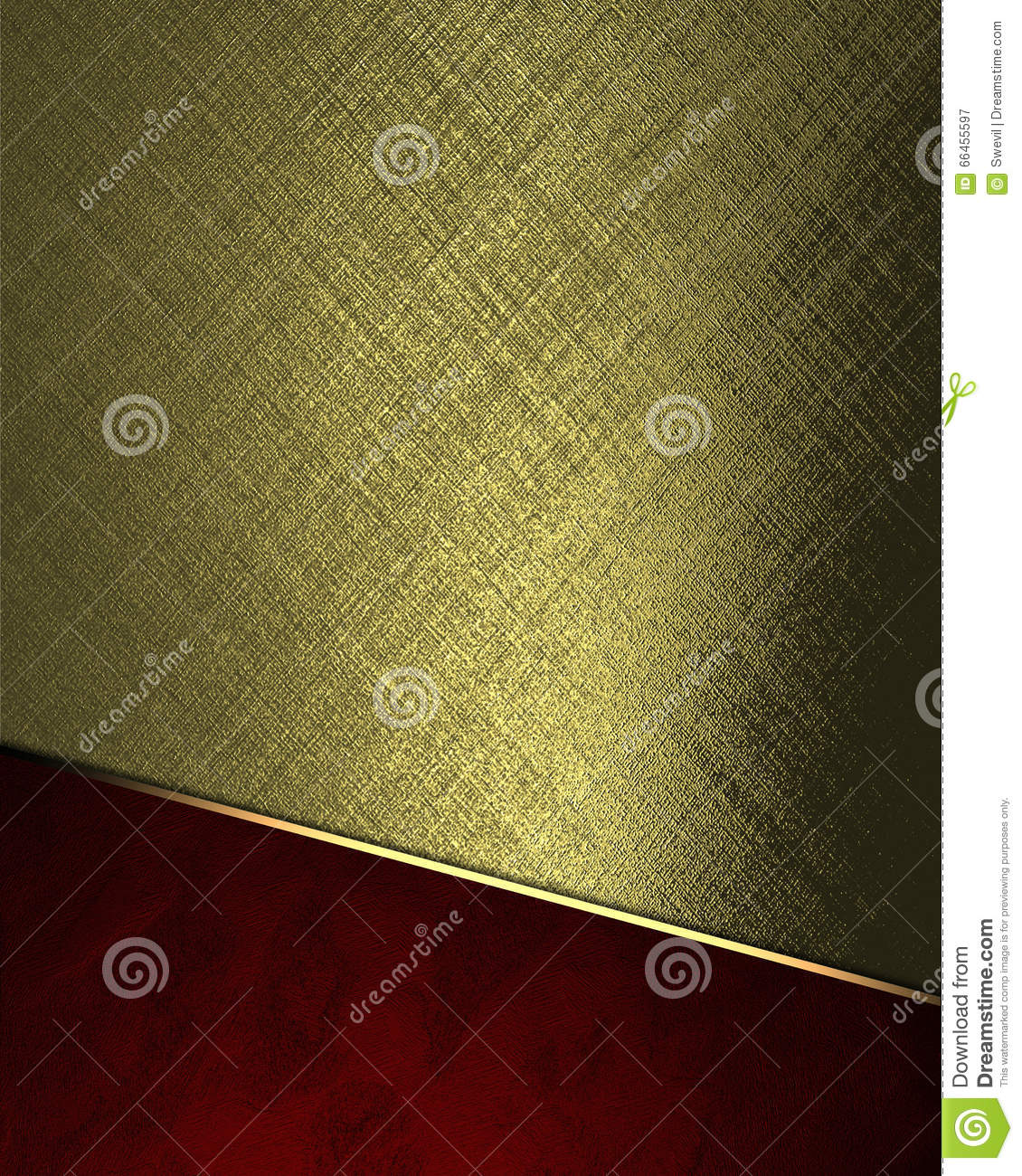 Abstract gold background with red bottom element for for Copy design