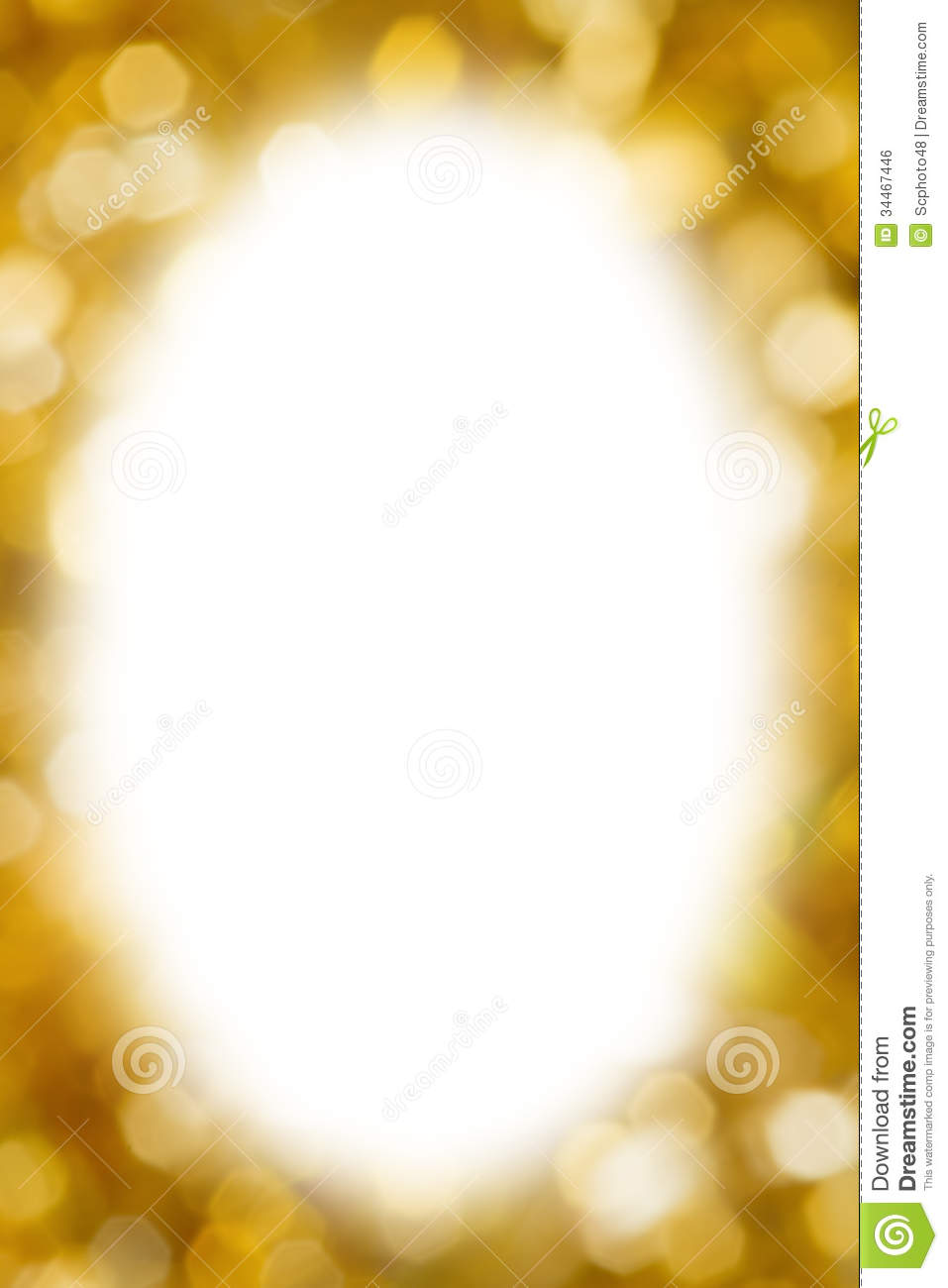 Abstract Gold Blurred Lights Christmas Background Royalty