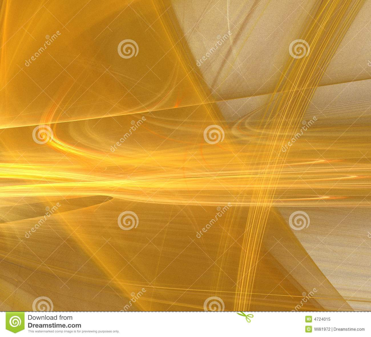 Abstract gold fractal