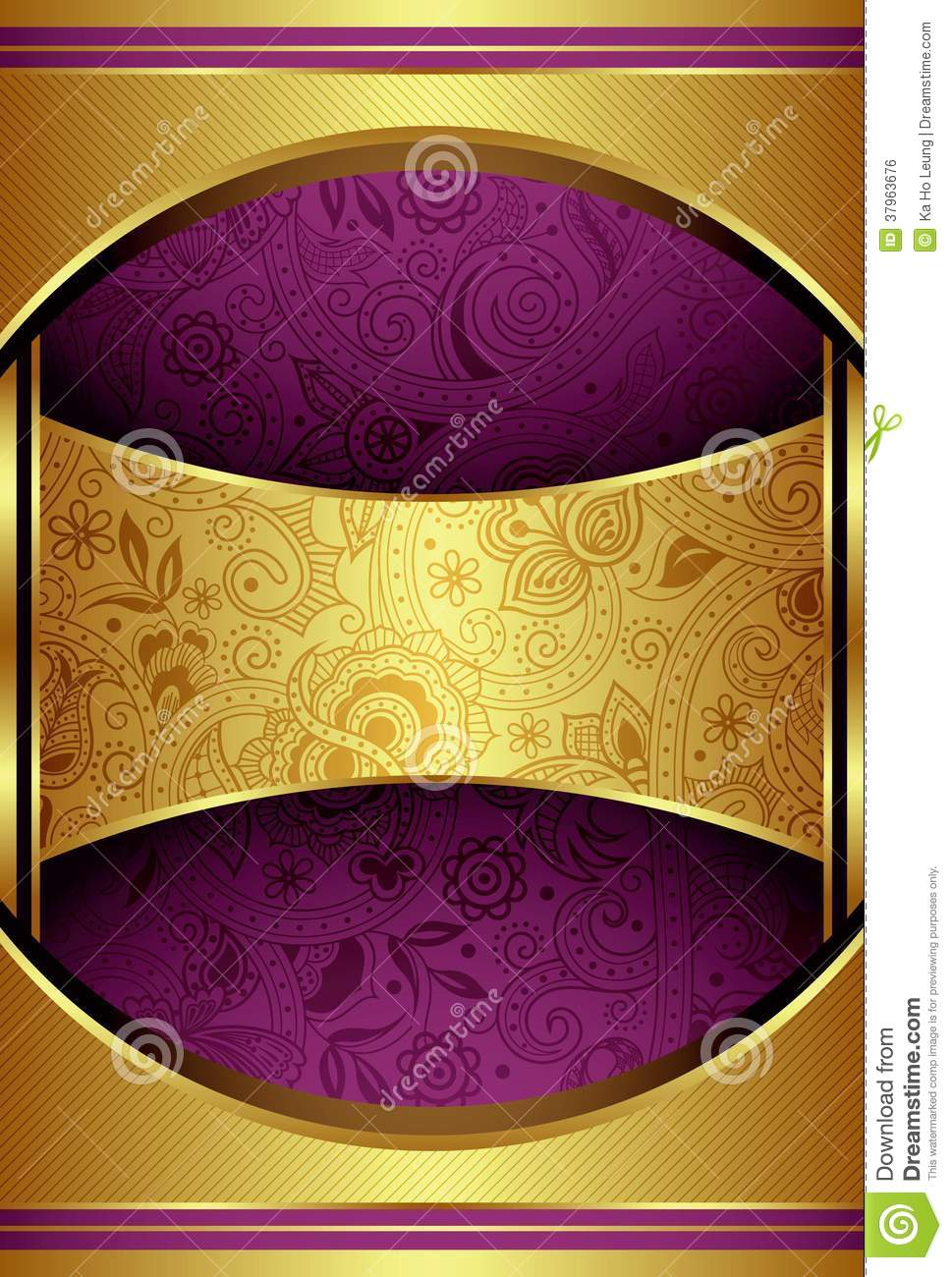 Abstract Gold And Purple Background Royalty Free Stock ...