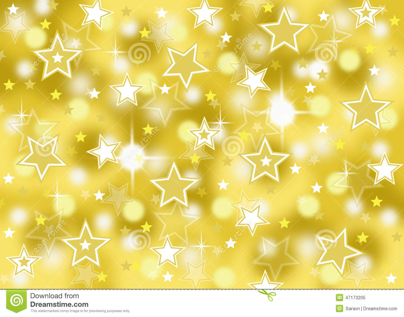 Abstract Gold Star Bok...