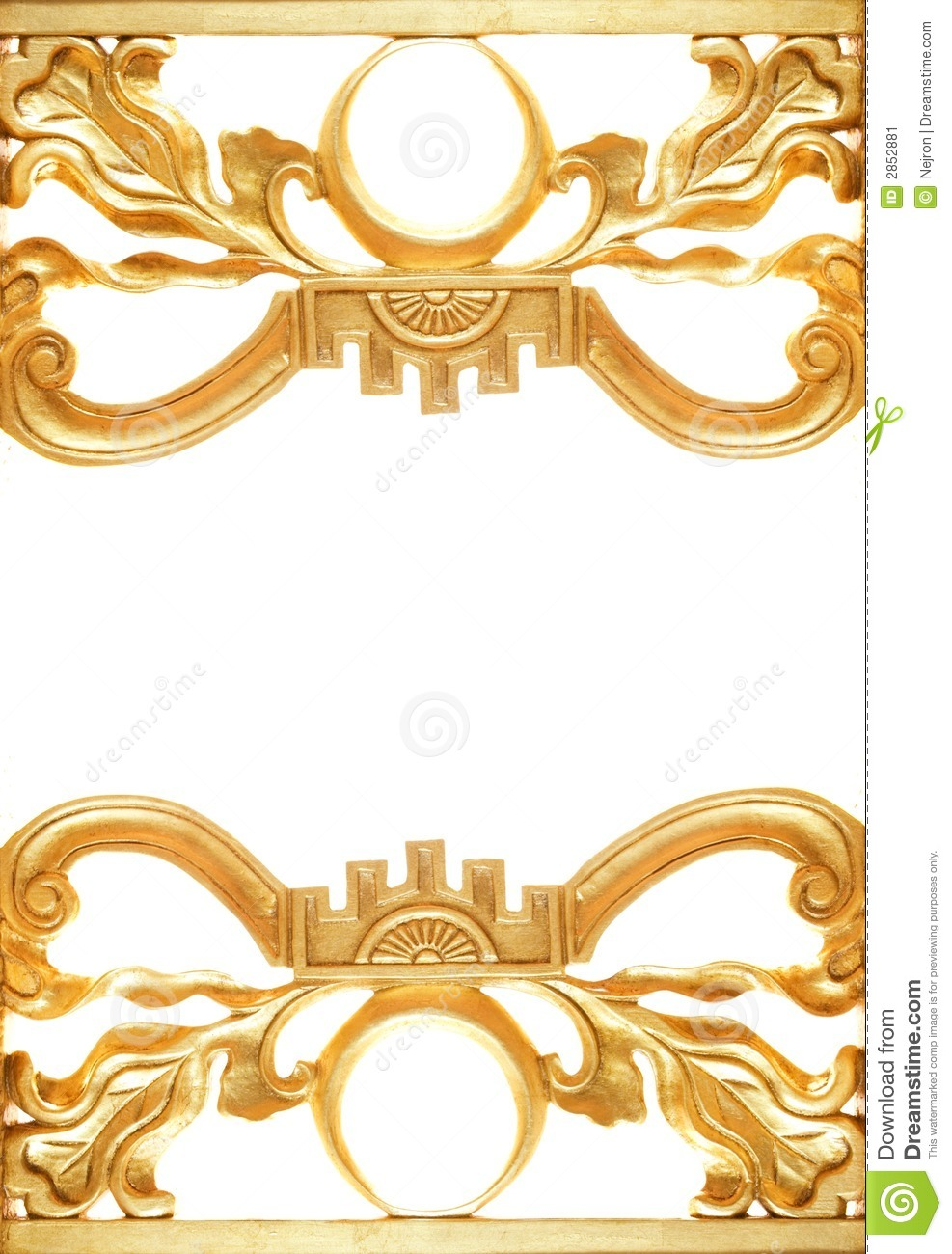 abstract golden border stock image image of material