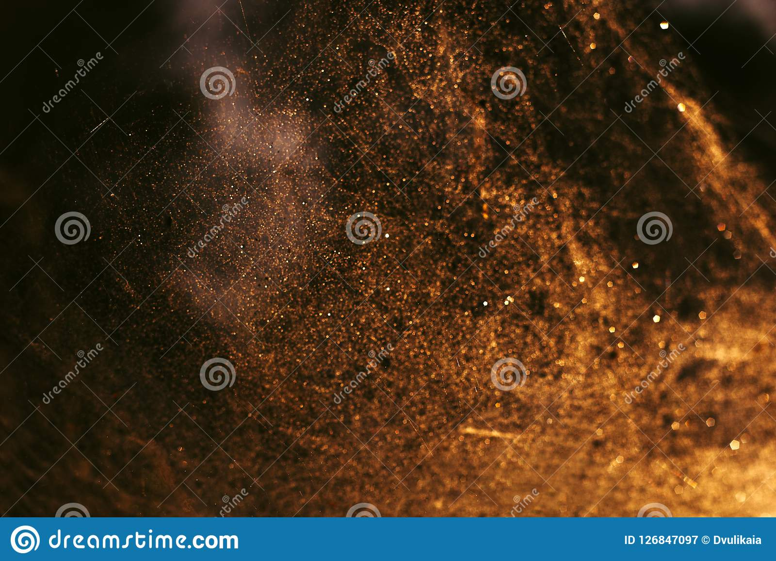 Abstract golden festive blurred background