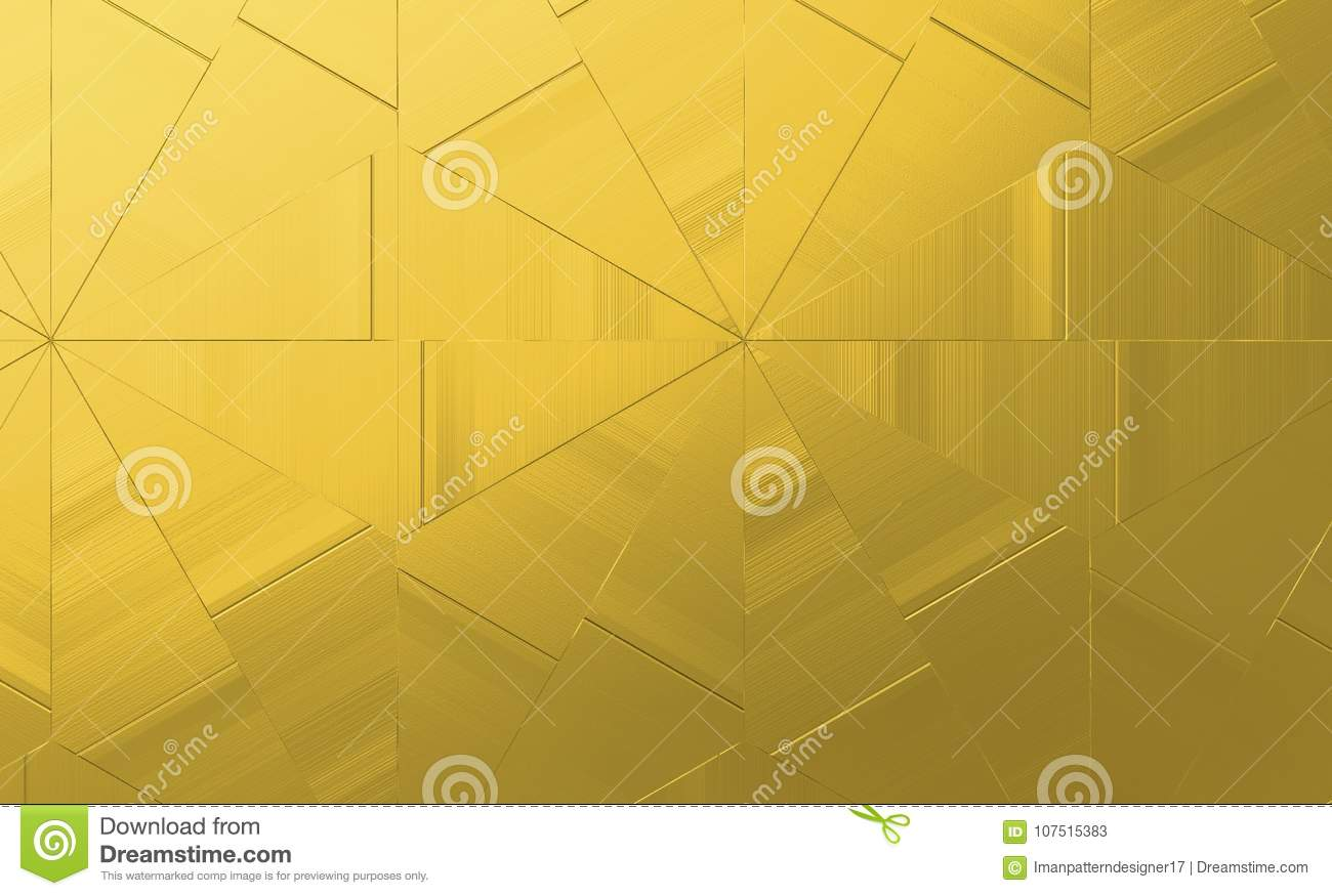 abstract golden geometric background gold triangles texture for