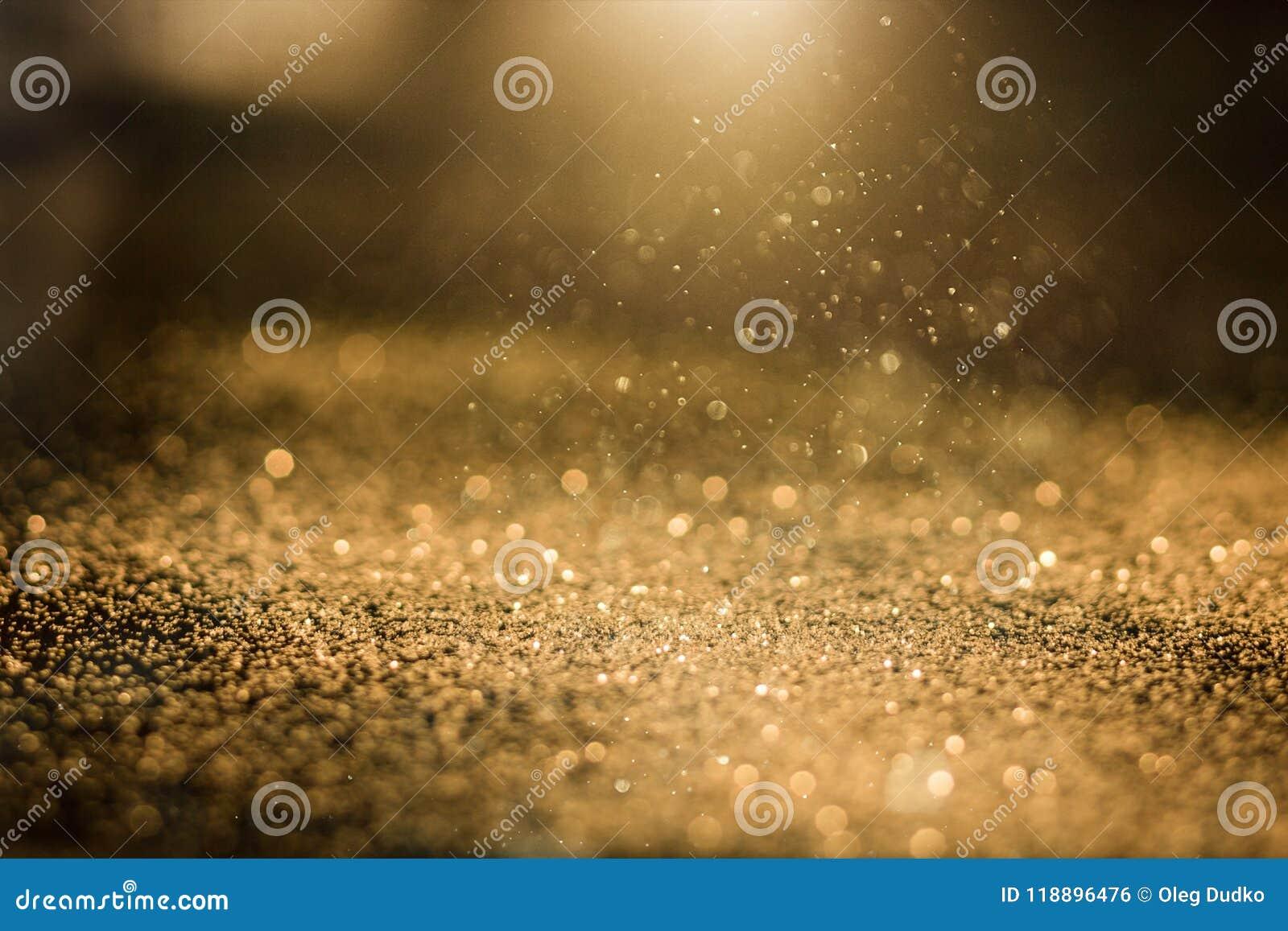 Abstract golden glitter