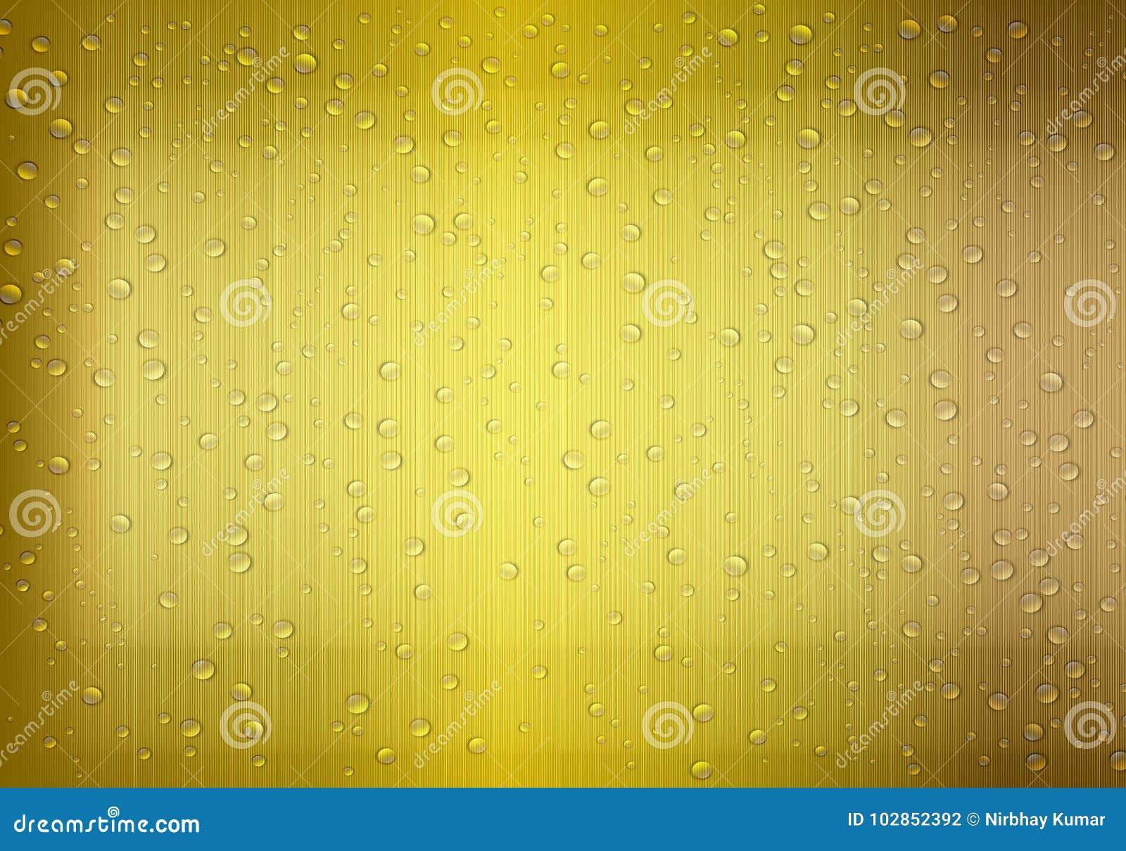 Water Drop Golden background