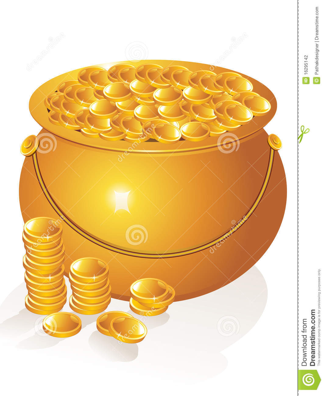 abstract golden pot with money coins stock vector image pot of gold clipart coloring sheet pot of gold clipart sheet