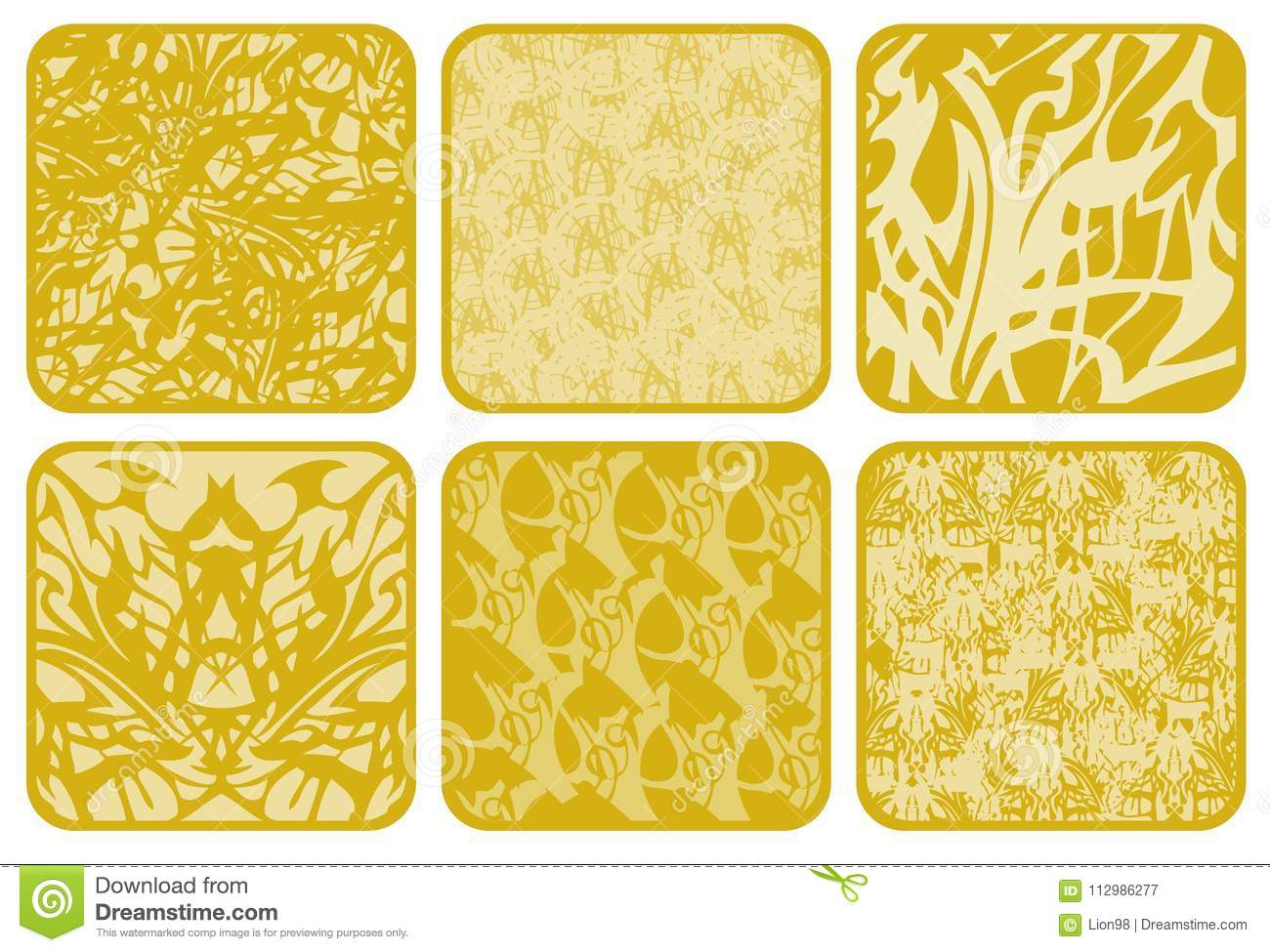 Abstract golden textures for your design