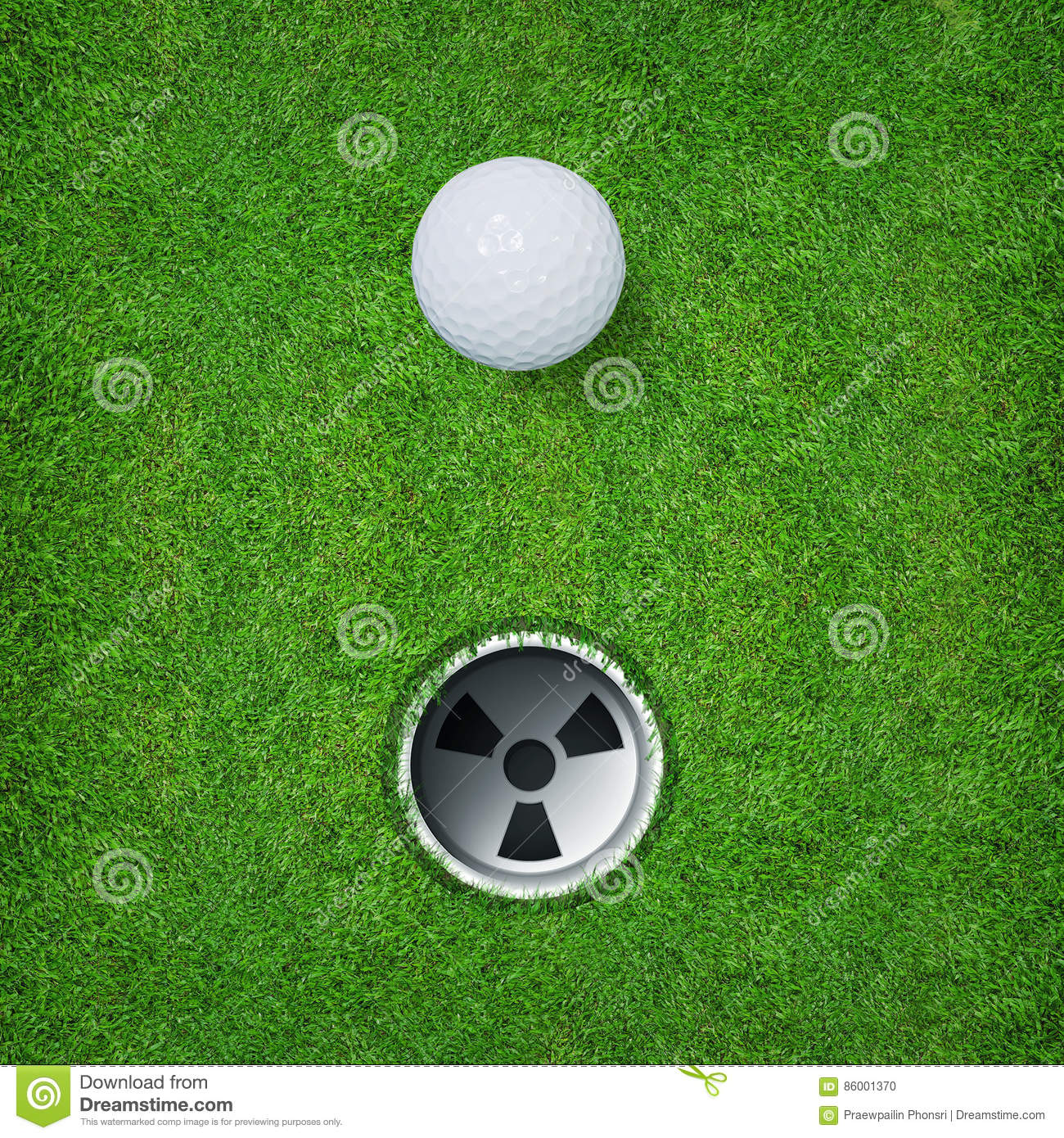 Download Abstract Golf Sport Background Of Golf Ball And Golf Hole On Green Grass Background. Stock Photo - Image of drive, club: 86001370