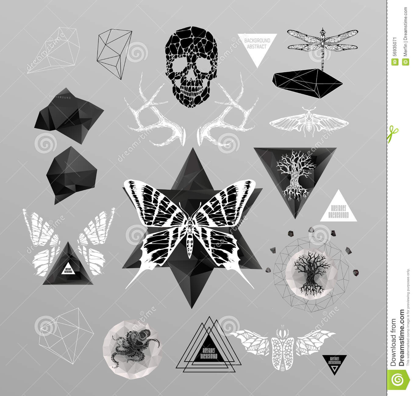 Abstract gothic stock vector image 56935071 for Gothic design elements