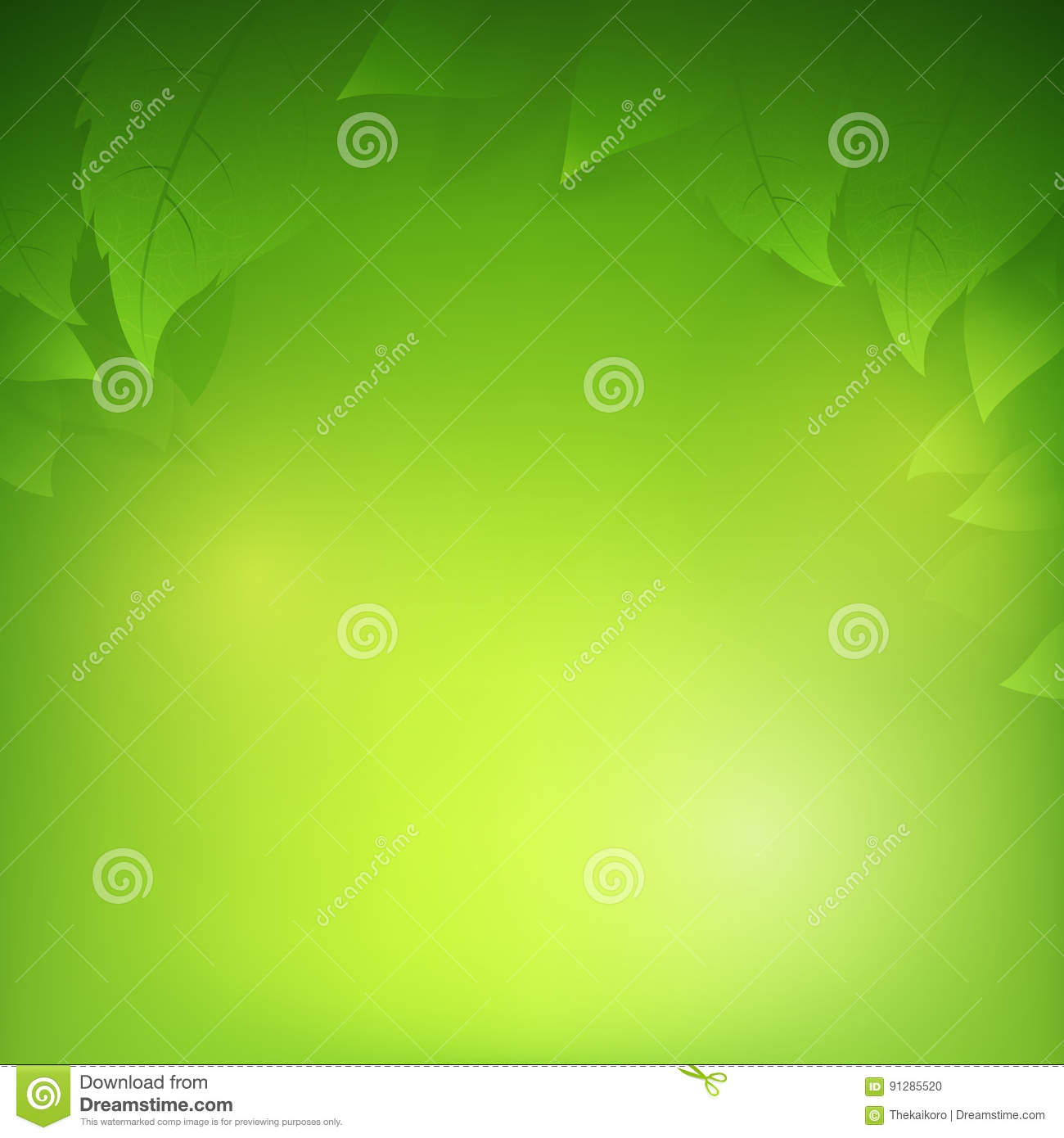 Background image transparency - Abstract Gradient Green Background With Transparency Leaf Stock Illustration