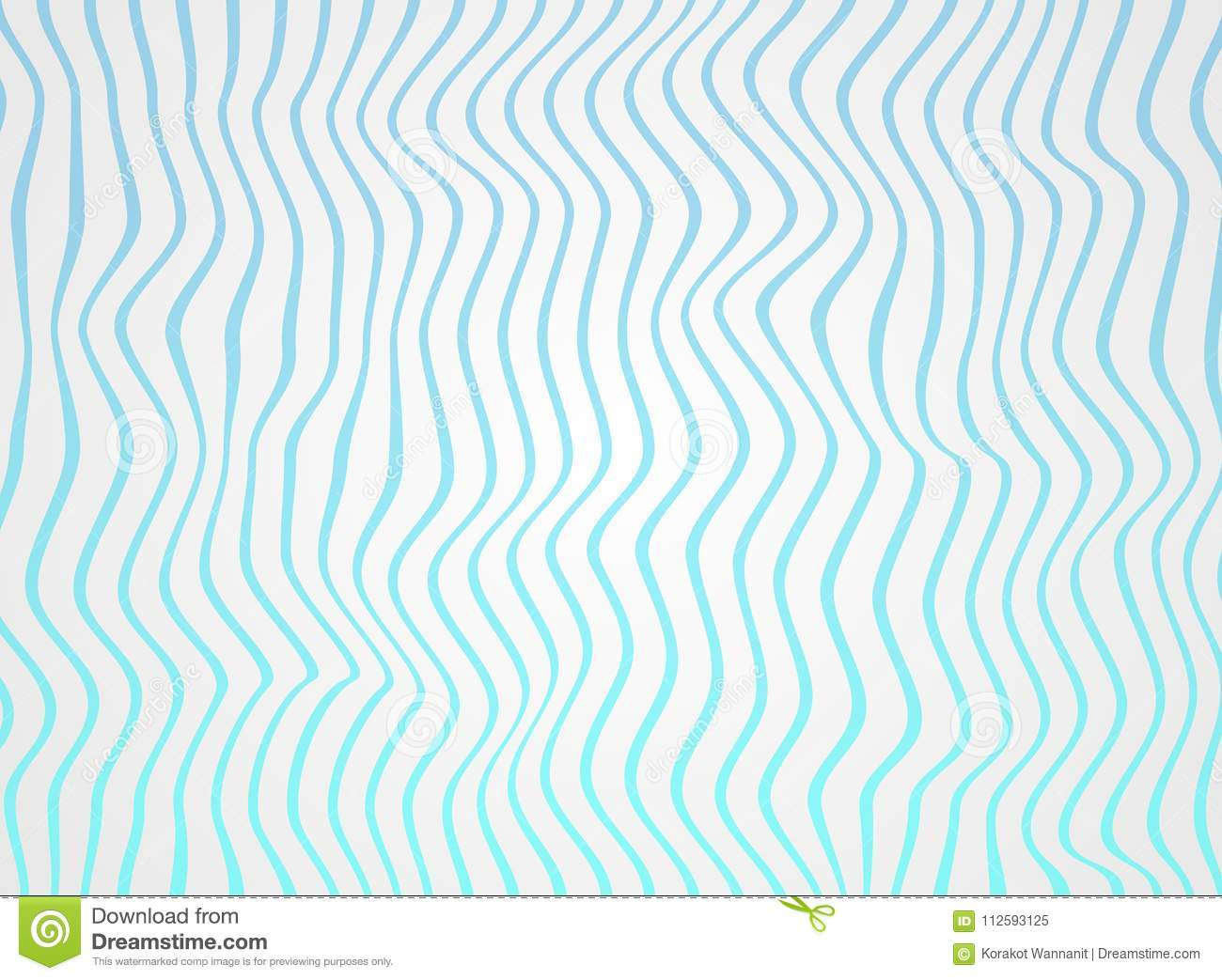 Abstract of gradient sea blue lines wave in pattern, soft white of rough surface