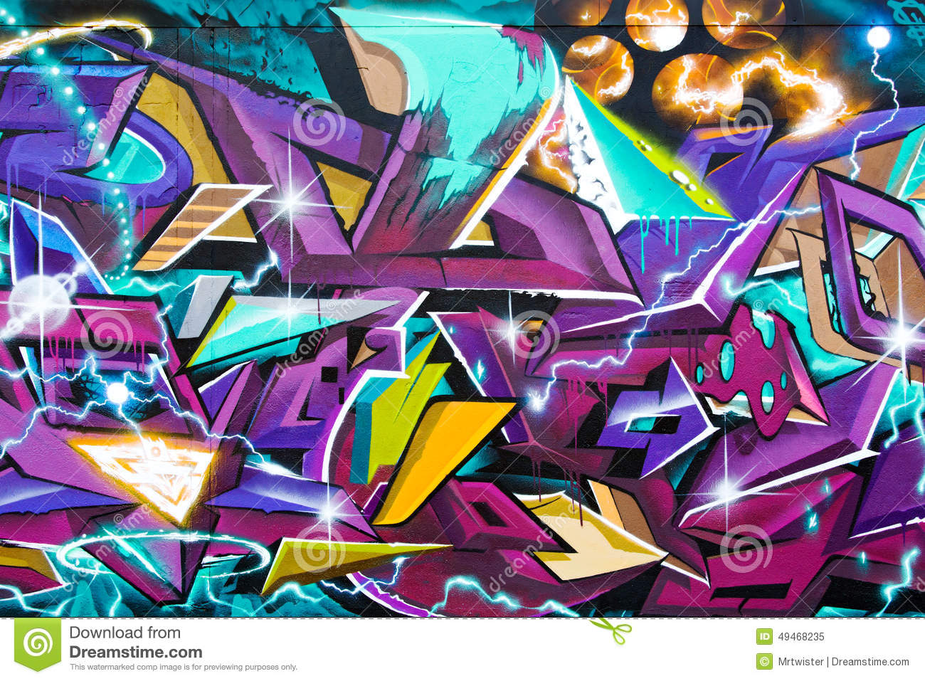 Abstract Graffiti Art Editorial Image Image Of Artistic