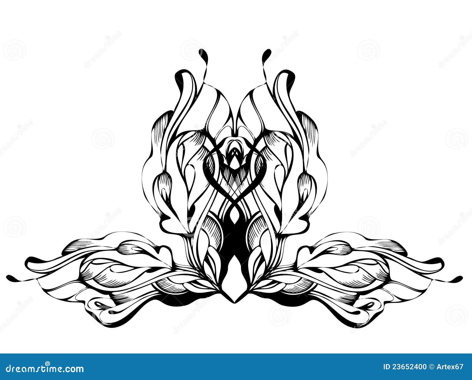 Abstract grafisch ontwerp in zwart wit stock foto afbeelding 23652400 - Behang grafisch ontwerp ...