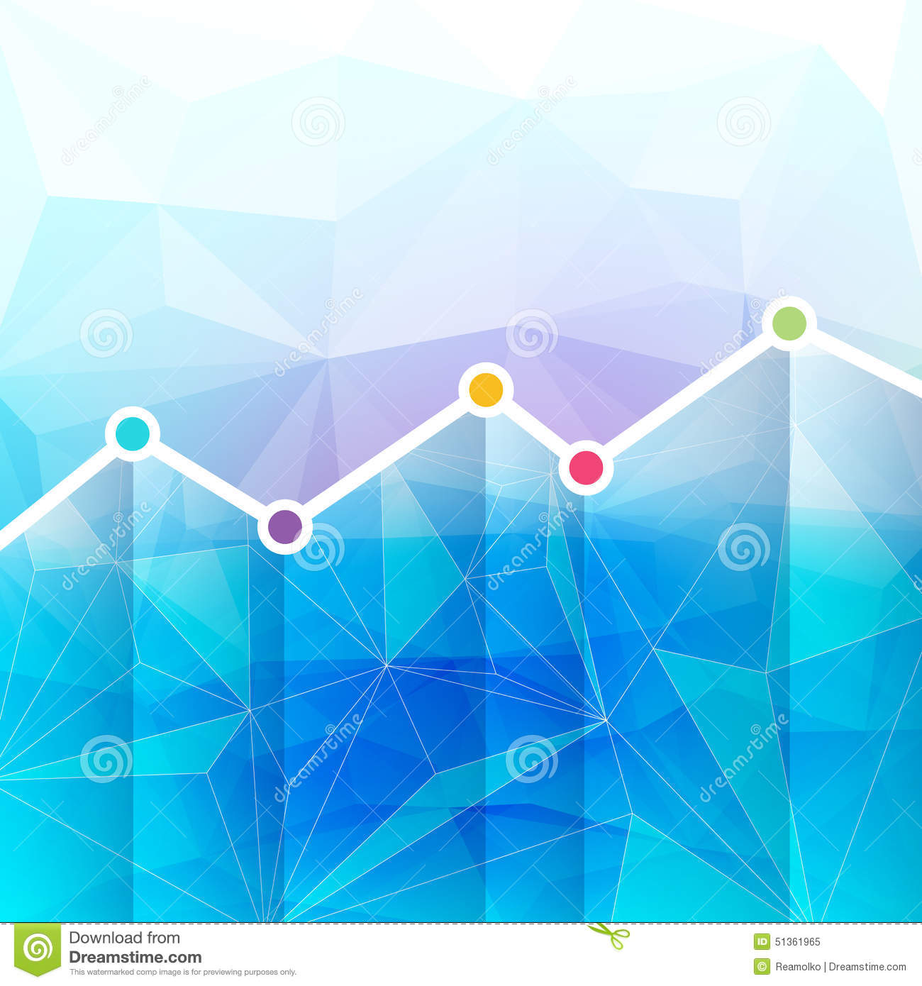 abstract graph chart timeline background  stock vector