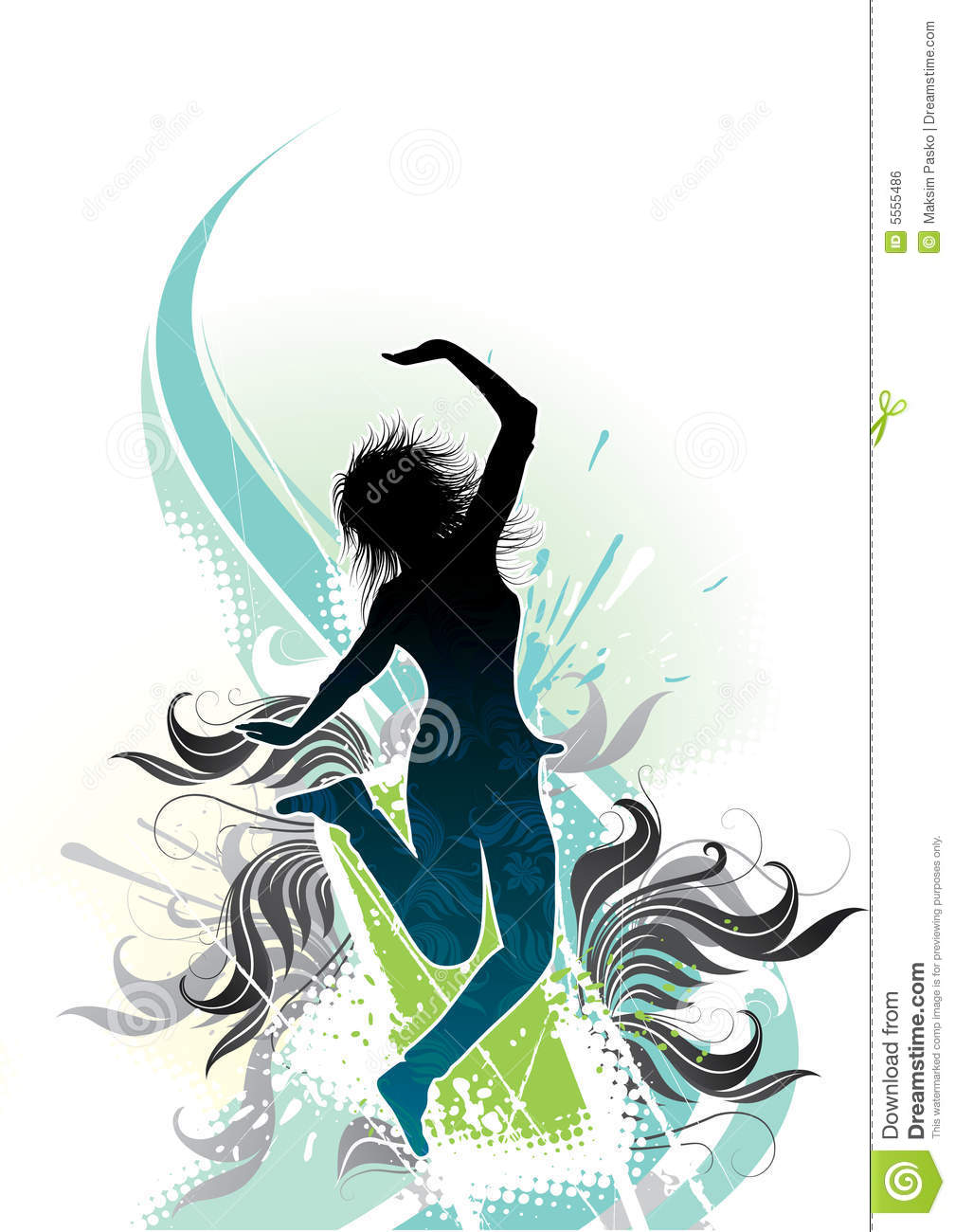 abstract graphic of dancer stock vector illustration of funky 5555486