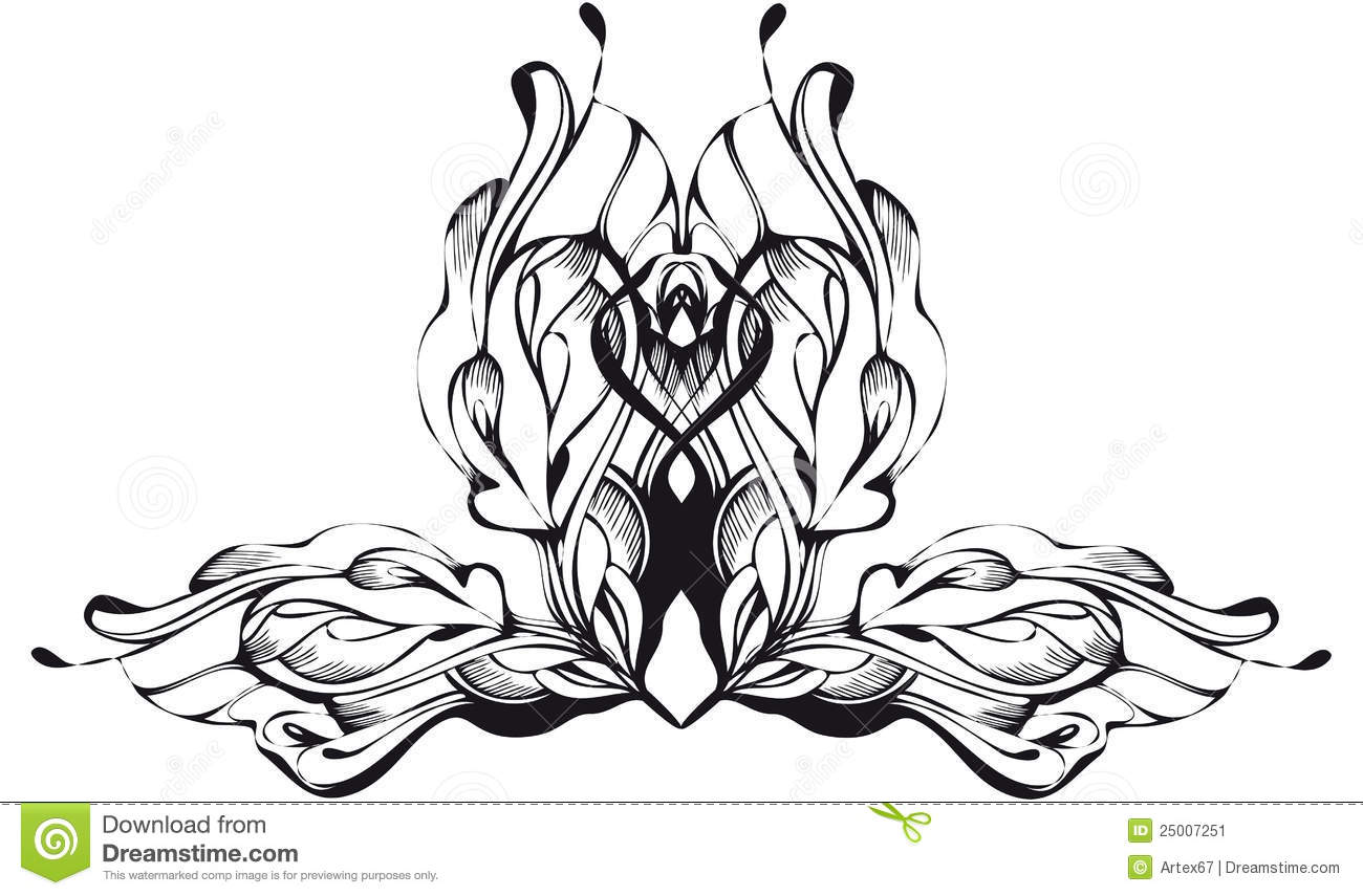 Abstract graphic design in black and white stock vector illustration of intricate calligraphy - Design black and white ...