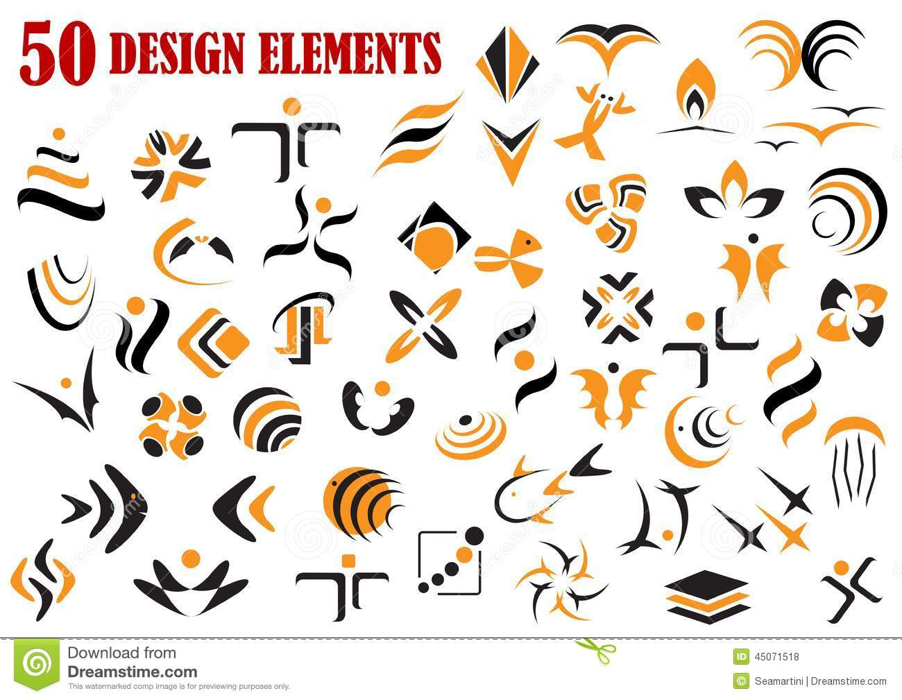 Visual Design Elements : Abstract graphic design elements and symbols stock vector