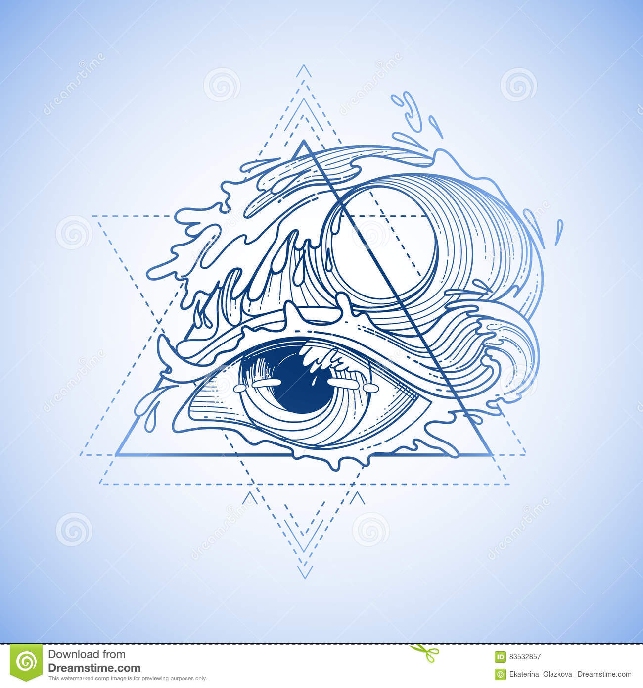 Abstract Graphic Eye Stock Vector Illustration Of School 83532857