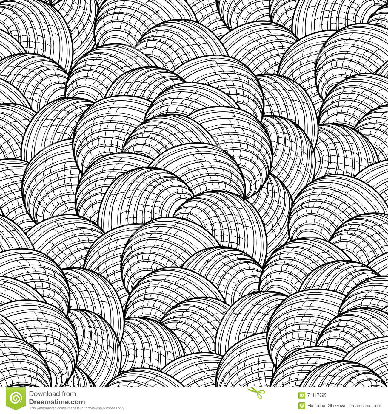 abstract graphic seashells pattern stock vector image 71117595