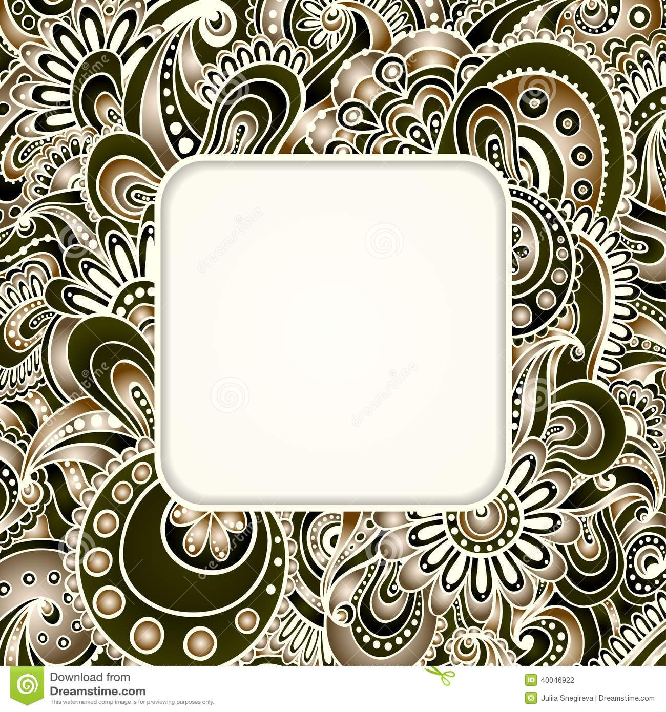 Abstract Graphic Vector Ethnic Pattern S Border Stock