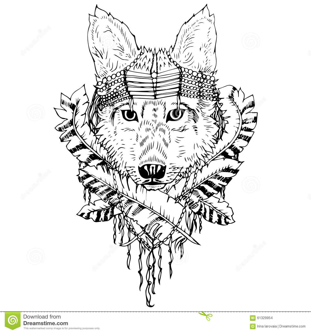 Abstract Graphic Wolf Print Stock Vector Illustration Of