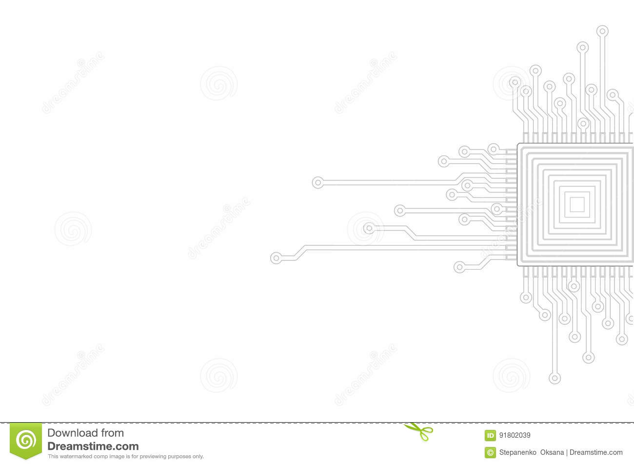 Abstract Gray White Background Electric Circuit Cpu Microprocessor Pictures Neutral Template Technology It Business Concept