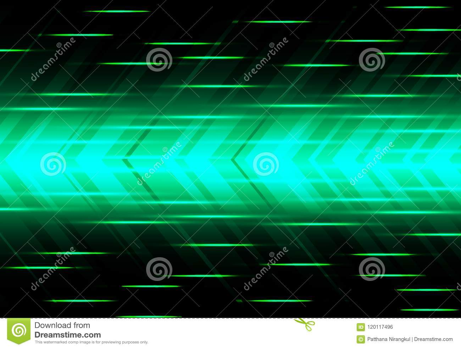 Abstract green arrow speed power technology futuristic modern background vector