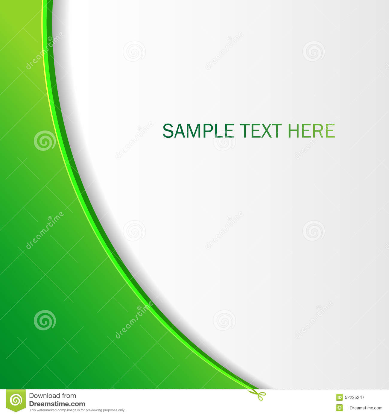 Abstract Green Background Brochure For Your Design