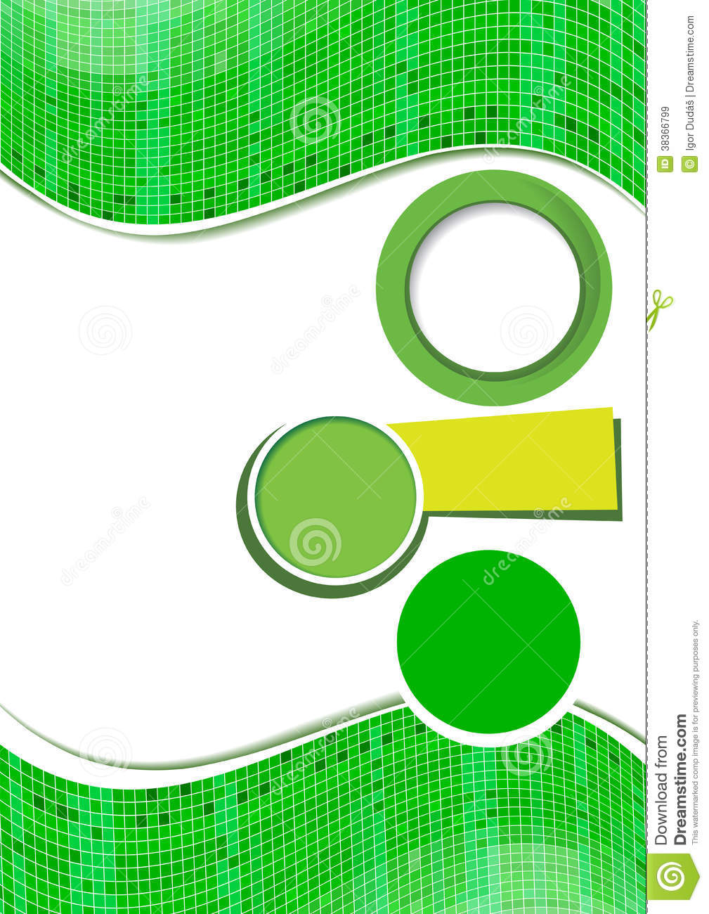 abstract green background design stock vector - illustration of