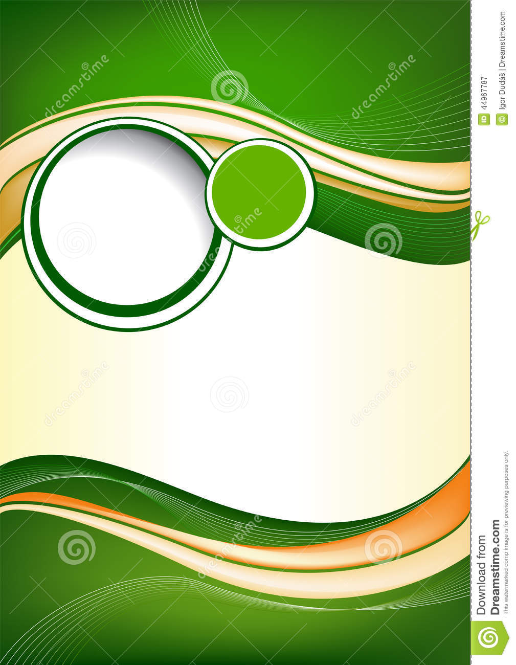 Abstract green background design stock vector image for Background for brochure design