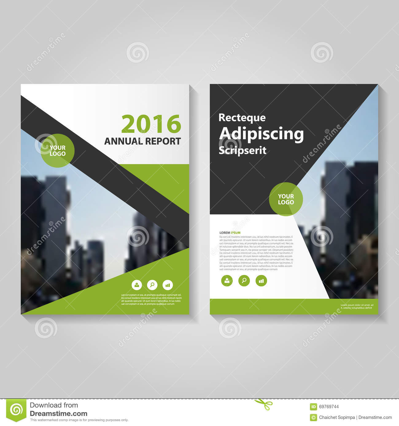 Corporate brochure flyer design layout template in a4 size with bleed - Simple Triangle And Circle Brochure Flyer Design Layout