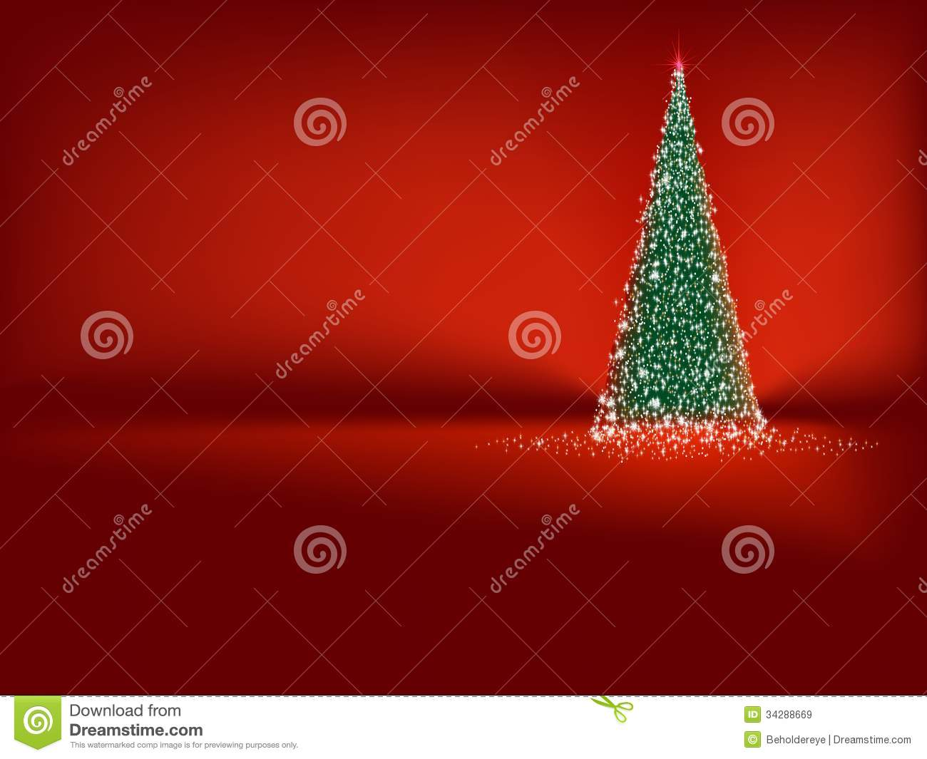 Red and green christmas tree stock image cartoondealer for Red green christmas tree