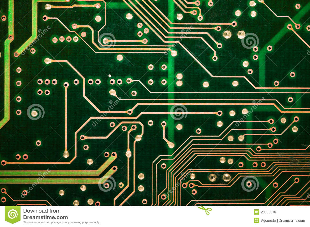 Abstract Green Circuit Board Pcb Closeup Stock Photo Image Of What Is On A