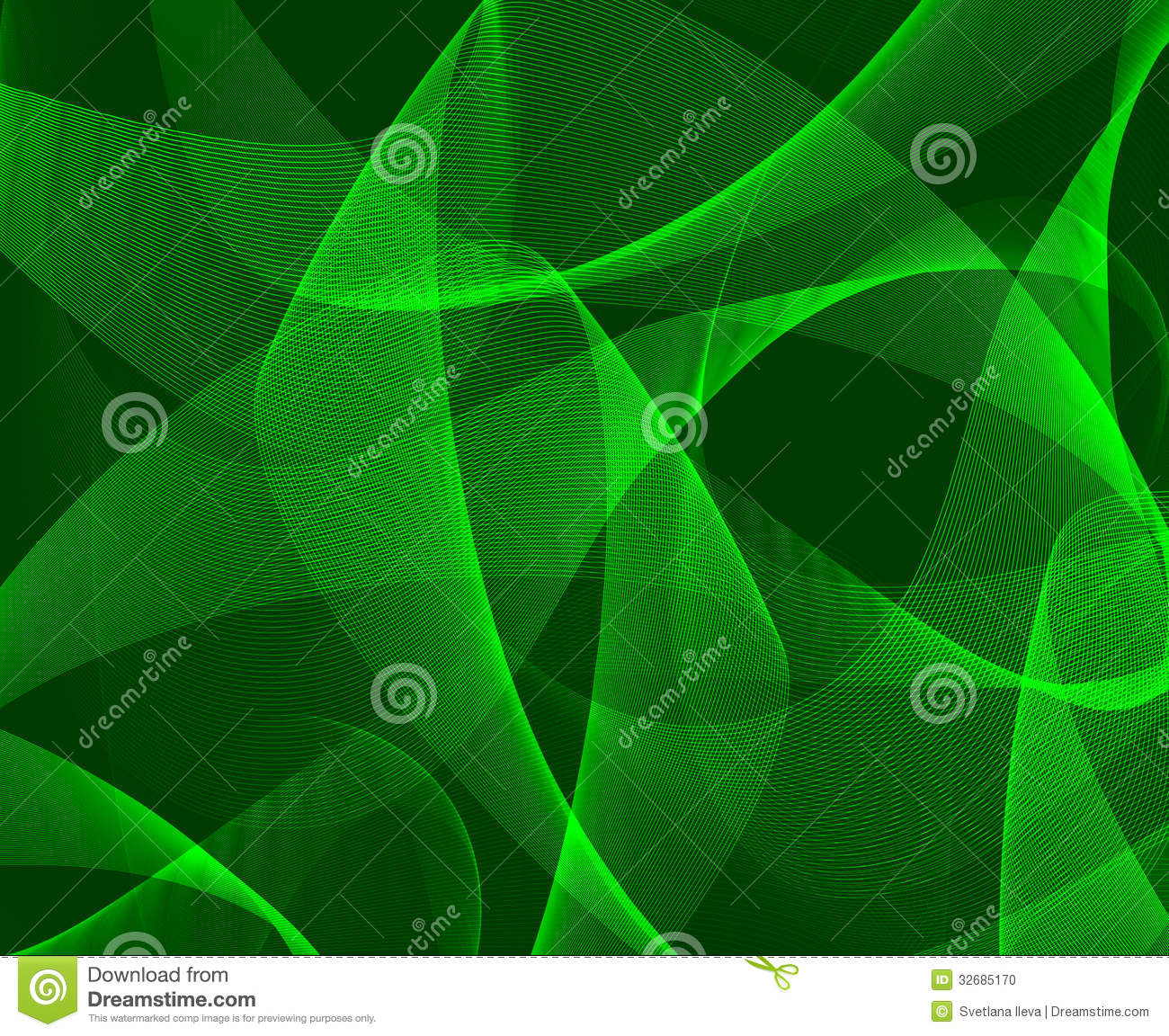 Abstract Green 3d Background Stock Photo