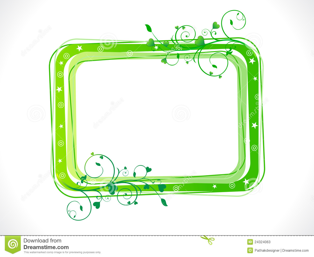 Green eco frame stock vector. Illustration of flora, abstract - 17988199