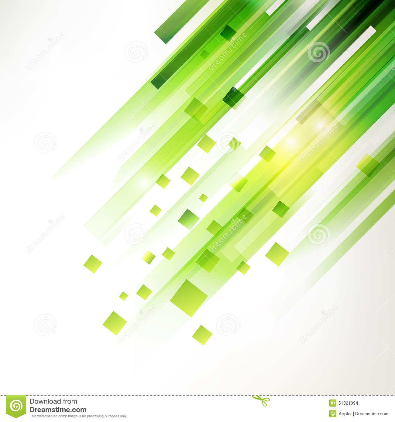 Abstract Green Geometric Corner Elements Stock Vector ...