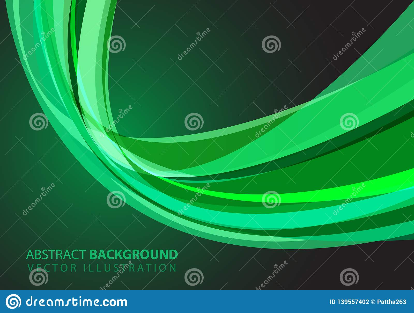 Abstract green glass curve light design modern futuristic luxury background vector