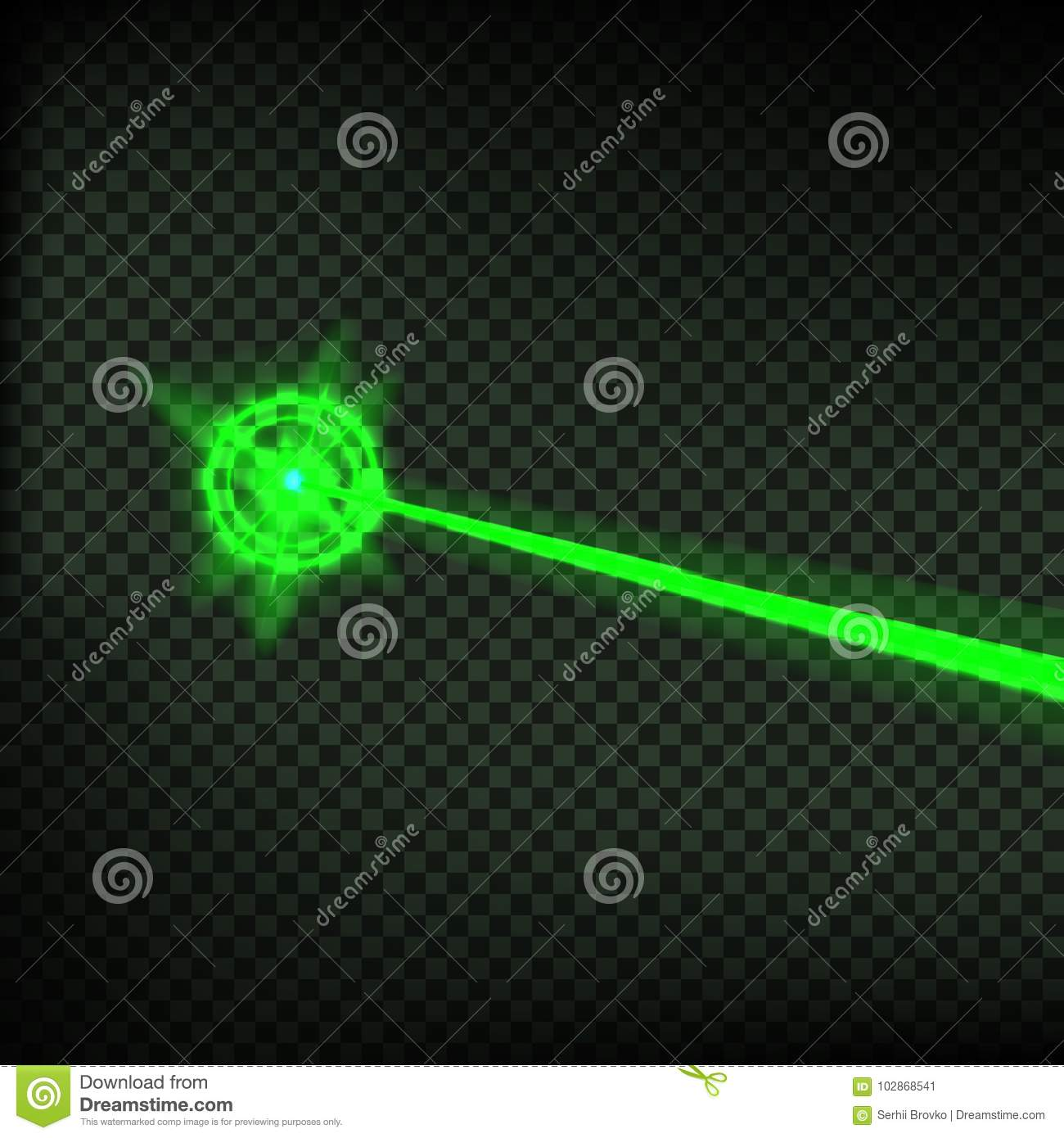 Abstract Green Flash Background Vector Illustration