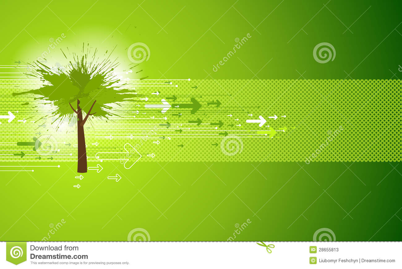 Abstract Green Tree Background Stock Photos - Image: 28655813