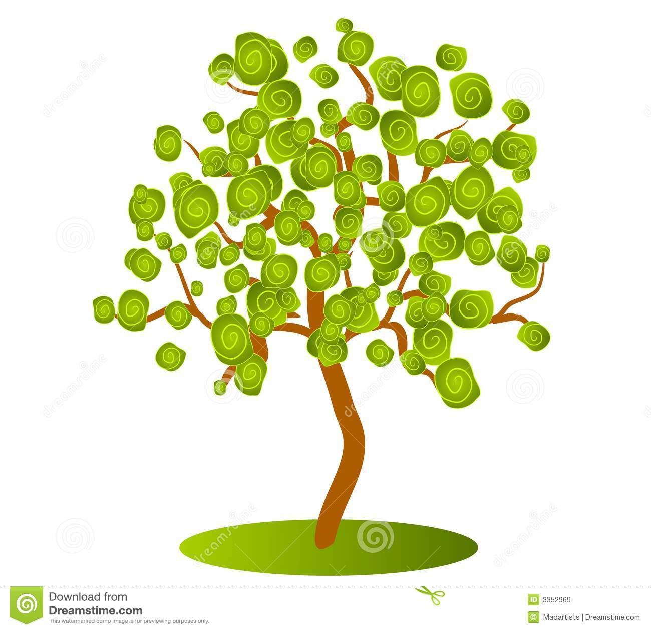 Clip Art Free Tree Clipart abstract green tree clip art royalty free stock images image art