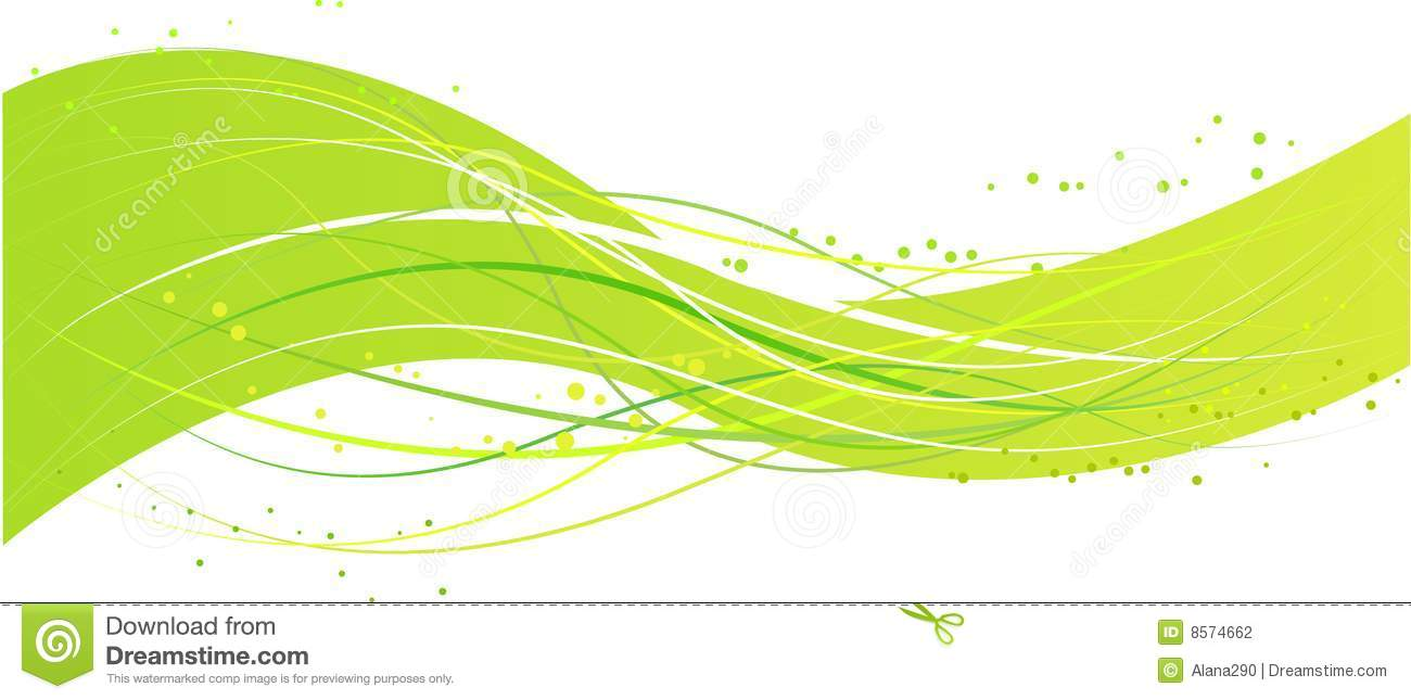 Abstract green wave design stock photography image 8574662 Green plans