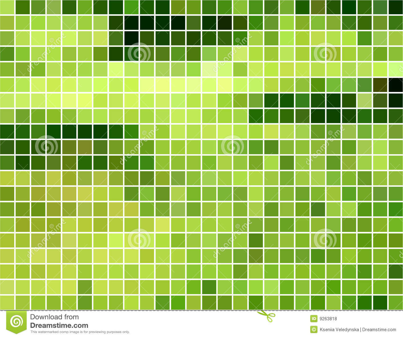 Abstract Green And Yellow Square Mosaic Background Royalty