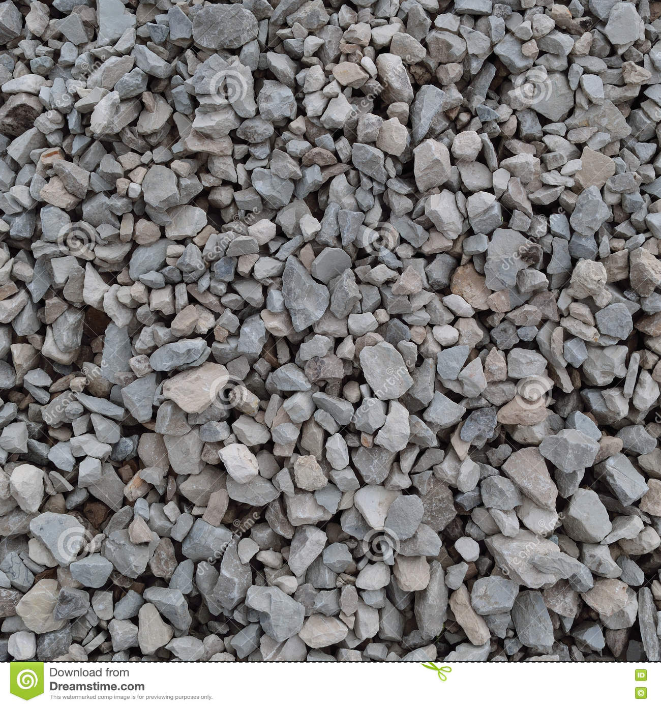 Granite Stone Gravel : Abstract grey and beige gravel stone background crushed