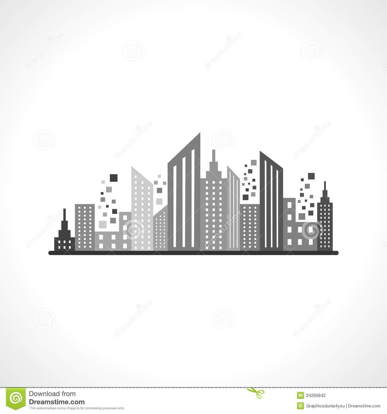 Commercial Property Landscape Design: Abstract Grey Real Estate Design Stock Photography