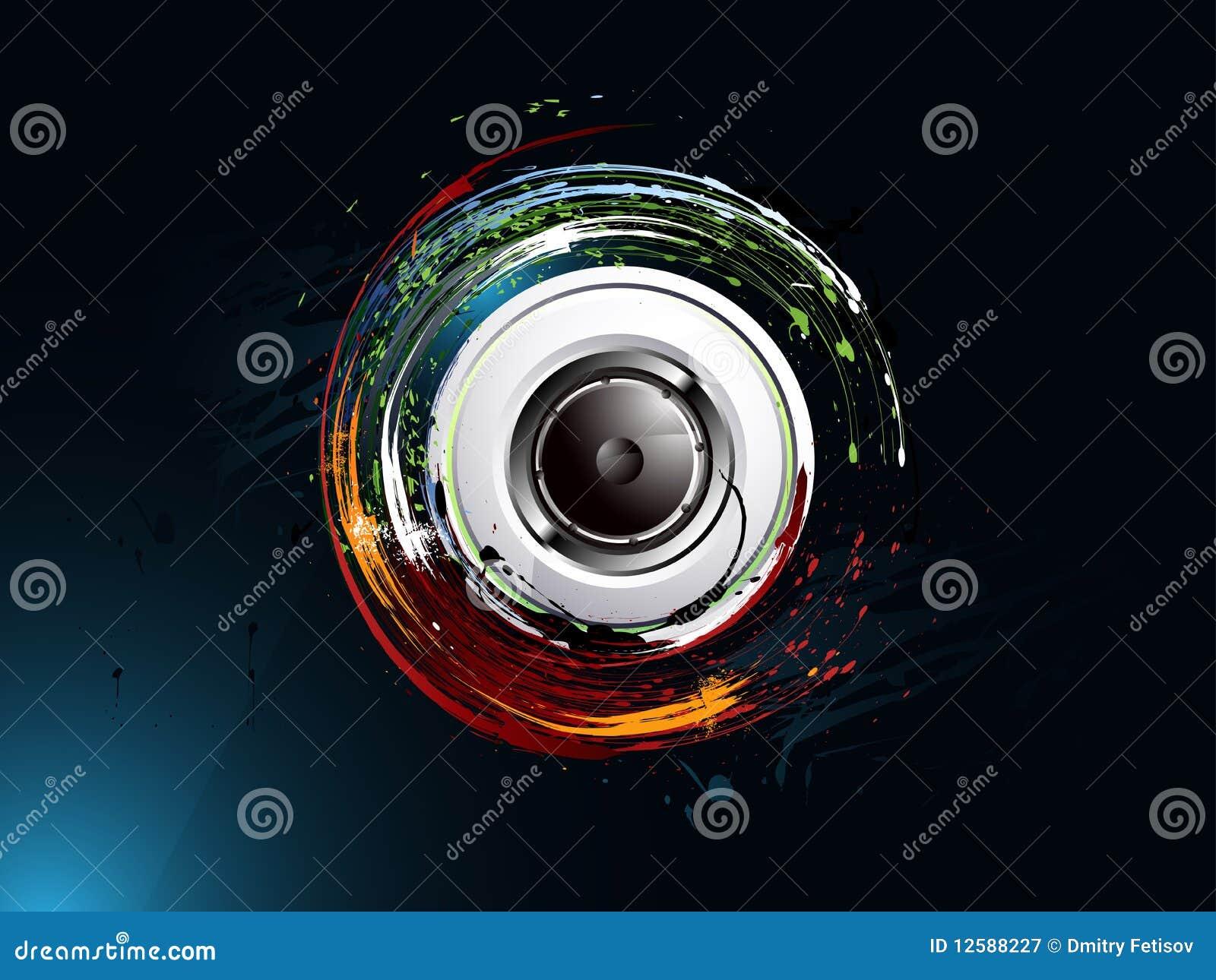 Grunge Camera Vector : Abstract grunge background loudspeaker stock vector illustration