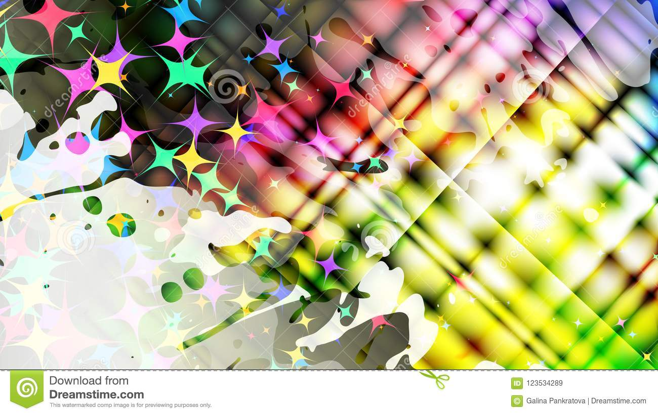 Abstract Grunge Colorful Background Vector Stock Vector