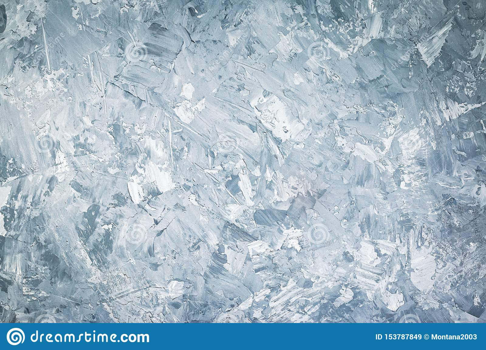 Abstract grunge decorative blue or grey stucco wall background. Web banner or wallpaper, copy space, horizontal