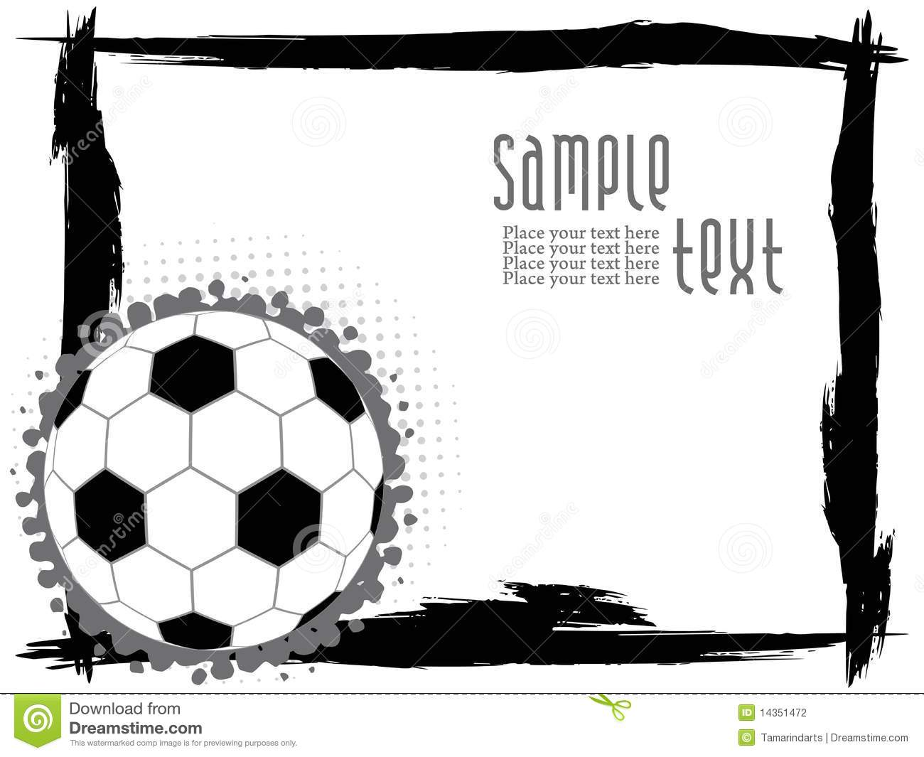 abstract grunge frame with football stock vector