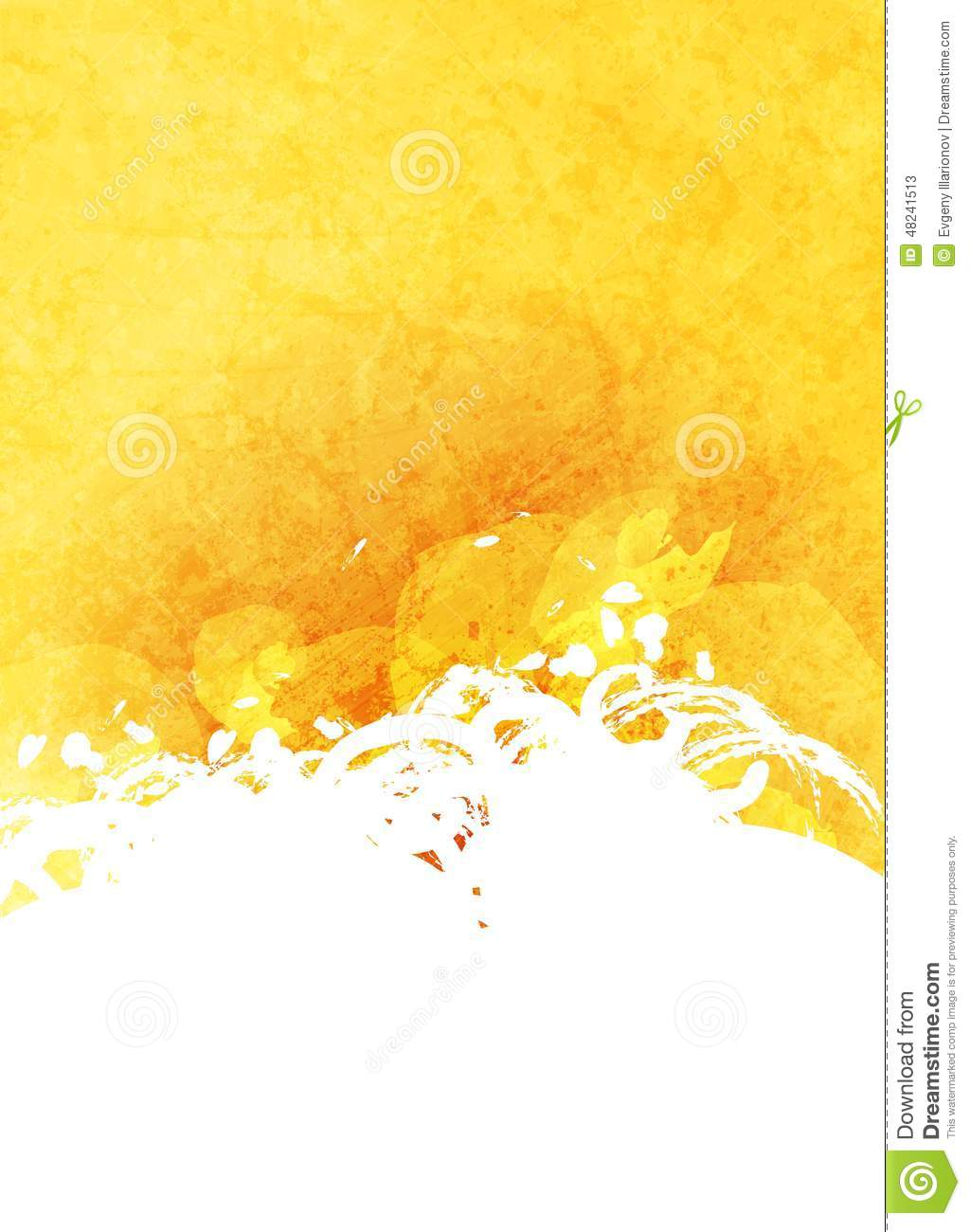 abstract grunge yellow and white background stock vector